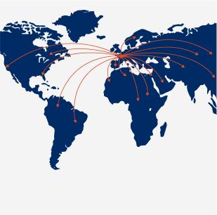 Implantation et distribution dans le monde